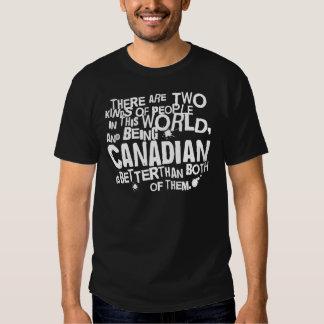 Presente canadense (engraçado) tshirts