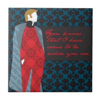 """Presente """"contagem Vronsky """" das citações de Anna Azulejo De Cerâmica"""