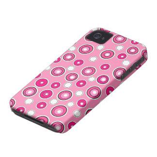 Presente cor-de-rosa & branco da caixa bonito nova capas para iPhone 4 Case-Mate