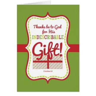 Presente-Costume Cartão-Indescritível do Natal da