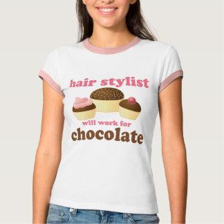 Presente da ocupação do cabeleireiro do chocolate camiseta
