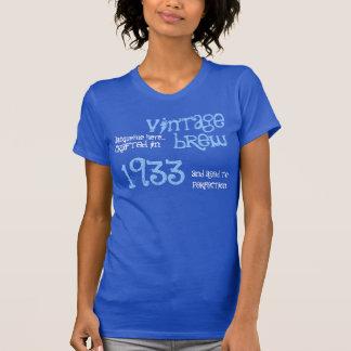 presente de aniversário do 80 fermentação do t-shirt