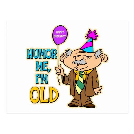 Presente De Aniversário Engraçado Cartão Postal