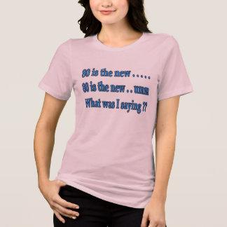 Presente de aniversário engraçado do 80 - que eu t-shirt