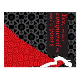 Presente de Anna Karenina com citações da novela Cartão Postal