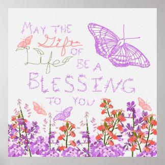 Presente de borboletas da vida poster