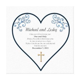Presente de casamento de Michael e de Lesley Impressão Em Tela