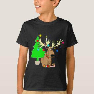 Presente de época natalícia da camisa do Natal T Camiseta