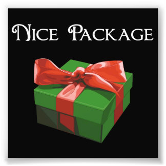 Presente de Natal agradável do pacote Impressão De Foto