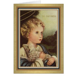 PRESENTE de oferecimento maciço católico do cartão