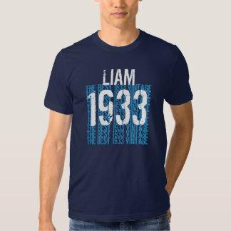presente do ano do aniversário do 80 o melhor camisetas