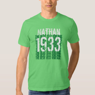 presente do ano do aniversário do 80 o melhor tshirts
