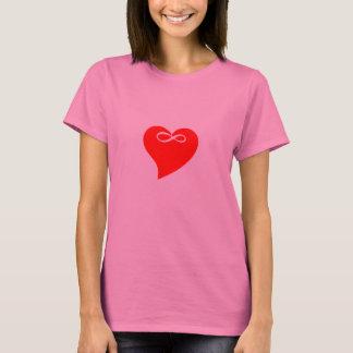 Presente do dia dos namorados do amor do coração t-shirts