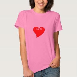 Presente do dia dos namorados do amor do coração tshirts