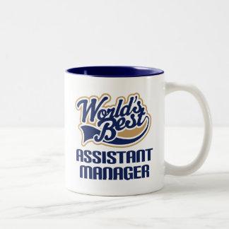 Presente do gerente assistente (mundos melhores) caneca de café em dois tons