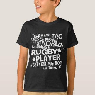Presente do jogador do rugby t-shirts