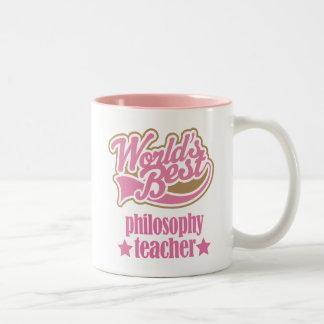 Presente do professor da filosofia (mundos caneca de café em dois tons