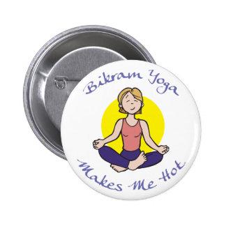 Presente engraçado da ioga de Bikram Bóton Redondo 5.08cm