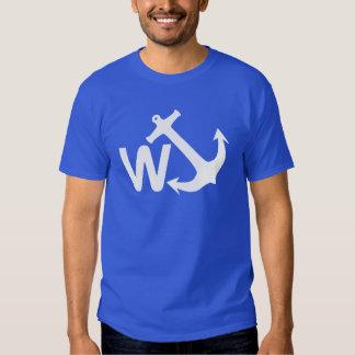 Presente engraçado da piada de Wanchor da âncora T-shirts