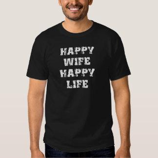 Presente engraçado da vida feliz feliz da esposa t-shirts