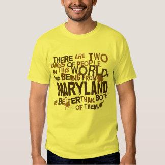 Presente (engraçado) de Maryland Camisetas