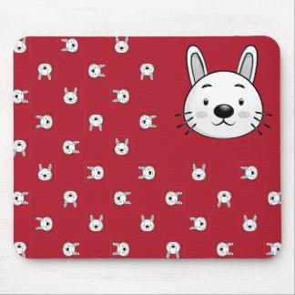 Presente engraçado do coelho mouse pad