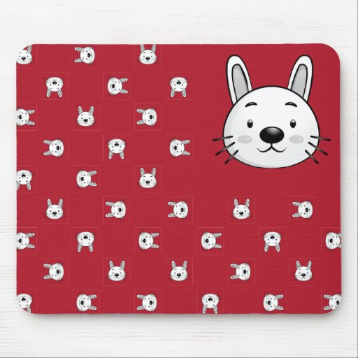 Presente engraçado do coelho mousepad