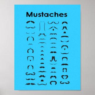 Presente engraçado do poster da carta do bigode