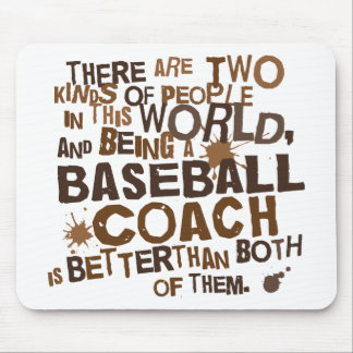 Presente (engraçado) do treinador de basebol mouse pad
