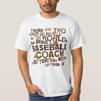Presente (engraçado) do treinador de basebol tshirts