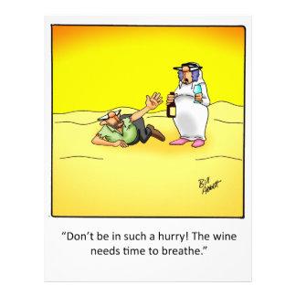 Presente engraçado do vinho! panfleto personalizado