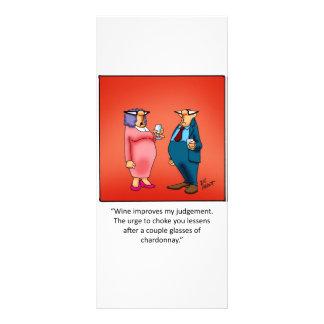 Presente engraçado do vinho! panfleto informativo personalizado