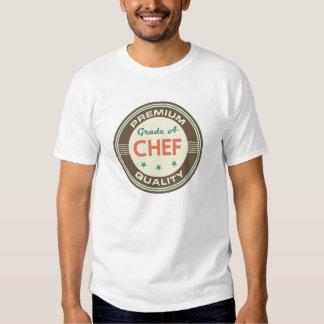 Presente (engraçado) superior do cozinheiro chefe camisetas
