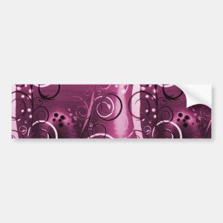 Presente feminino roxo floral abstrato das adesivo para carro