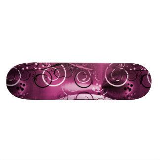 Presente feminino roxo floral abstrato das videira shape de skate 18,7cm
