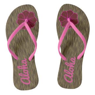Presente havaiano das sandálias dos chinelos do