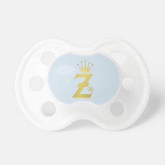 Presente inicial do Pacifier do bebê do monograma Chupeta Para Bebê