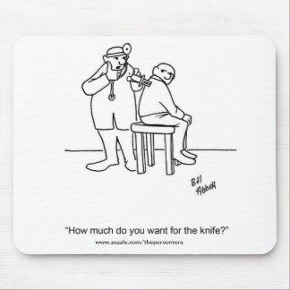 Presente médico engraçado do tapete do rato do hum mousepad