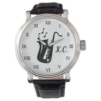 Presente Monogrammed do relógio para o jogador de