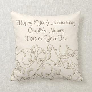 Presente personalizado do aniversário de casamento almofada
