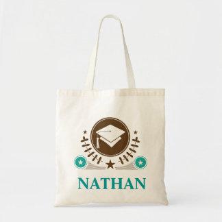 Presente personalizado logotipo da graduação do bolsas de lona
