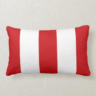 Presente vermelho & branco da viatura de incêndio  travesseiro
