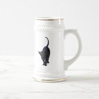 Presentes & acessórios do gato preto caneca de cerveja