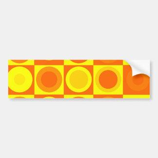 Presentes alaranjados e amarelos do teste padrão adesivo para carro