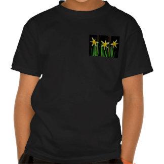 Presentes amarelos elegantes do buquê floral da tshirts