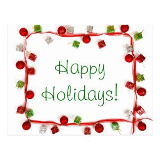 Presentes coloridos festivos da fita da decoração cartão postal