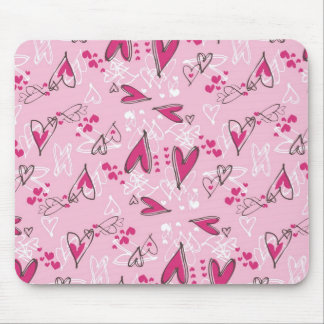 Presentes cor-de-rosa bonito do dia dos namorados  mousepad