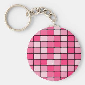 Presentes cor-de-rosa bonito do teste padrão do chaveiro