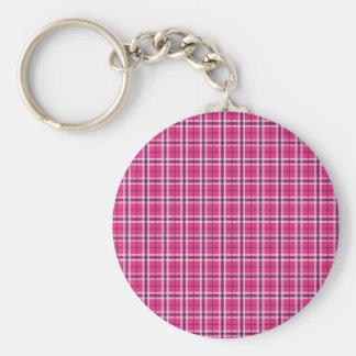 Presentes cor-de-rosa e roxos femininos do teste chaveiro