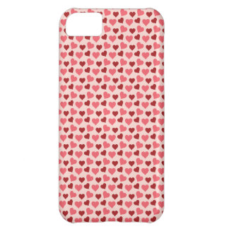 Presentes cor-de-rosa e vermelhos do teste padrão  capas para iphone5C
